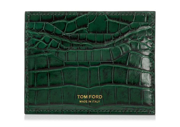 Men Genuine Leather Crocodile Pattern Wallet Bifold Credit Card Holder Purse New