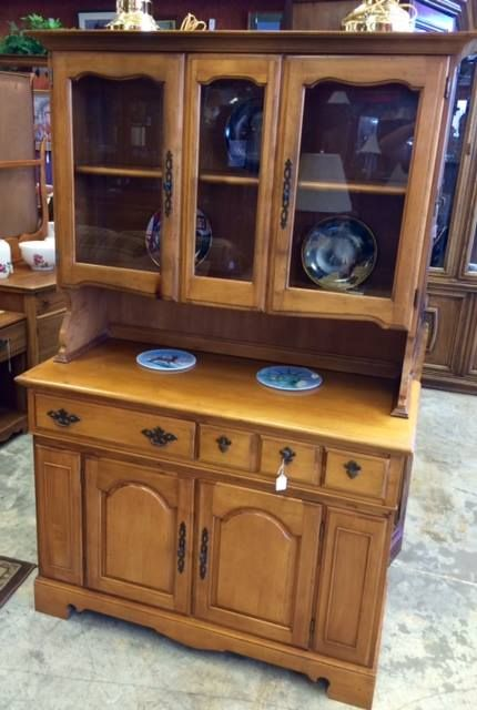 Charmant 2pc Solid Maple Hutch By The Crawford Furniture Company $320 #furniture  #forsale #hutch