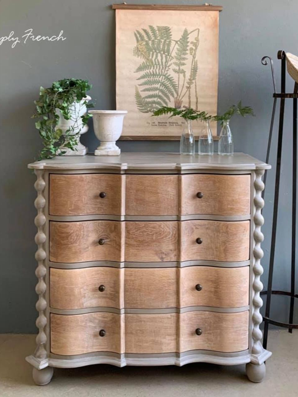 Neutral Khaki Chalk Paint French Linen Annie Sloan Painted Furniture Refinishing Colorful