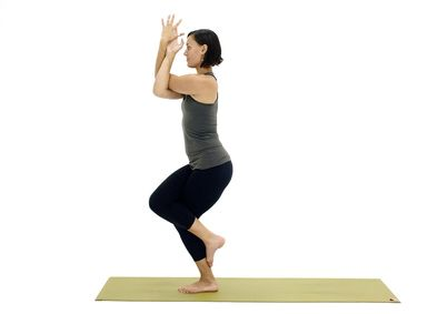 work on your core and hips while standing on one leg in