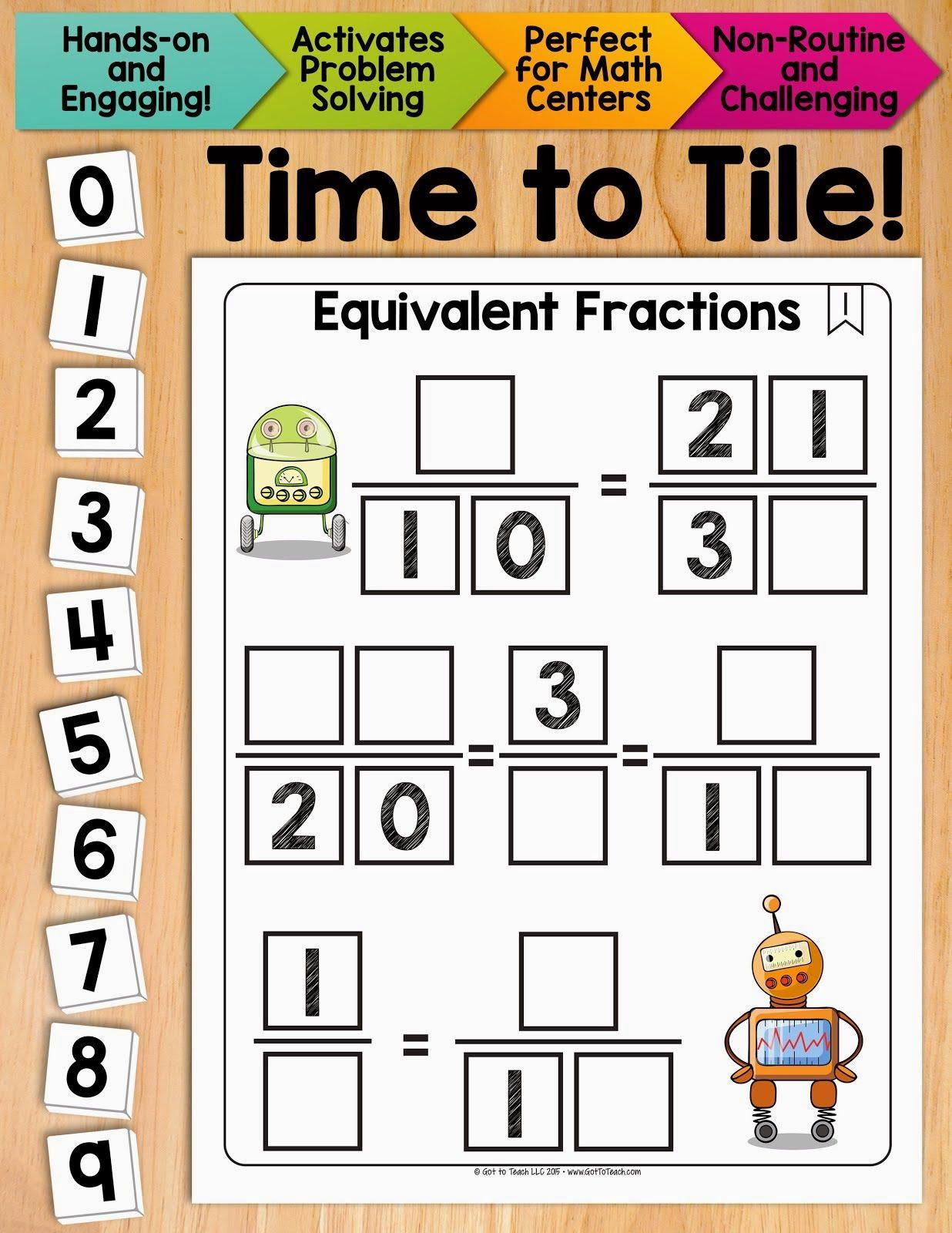 Math Tiles My Favorite Math Activity