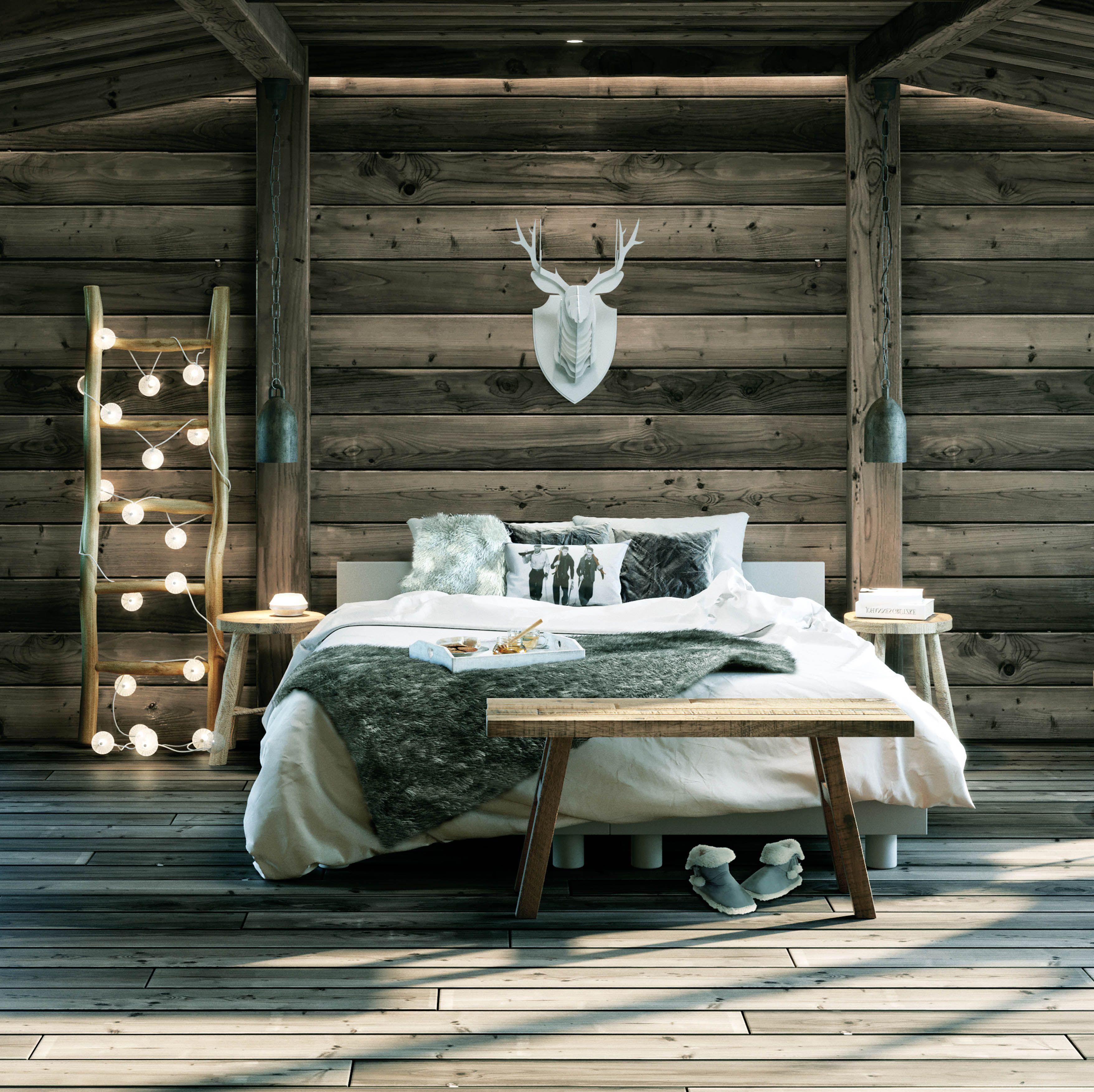 Une Jetee De Lit En Fourrure Pour Une Deco Cocooning Deco Cocooning Chambre A Coucher Cocooning Deco Chambre