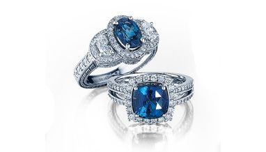 - 14K SAPPHIRE 1.91CTS AND DIAMOND 3.31CTS AND DIAMOND .65CTS RING (Bottom)