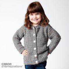 Child S Crochet Crew Neck Cardigan Free Pattern Crochet Projects