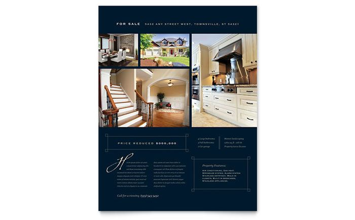 luxury home real estate flyer design template by stocklayouts