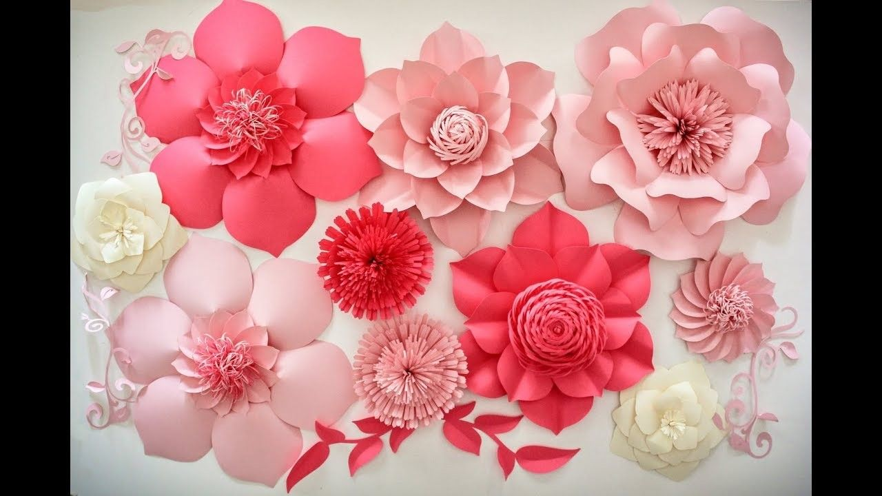 How To Make A Paper Flower For Wall Backdrop Dp Pinterest