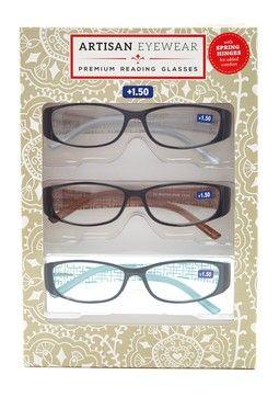 GlanceEyewear | Women's Wide Frame Reader Glasses Set