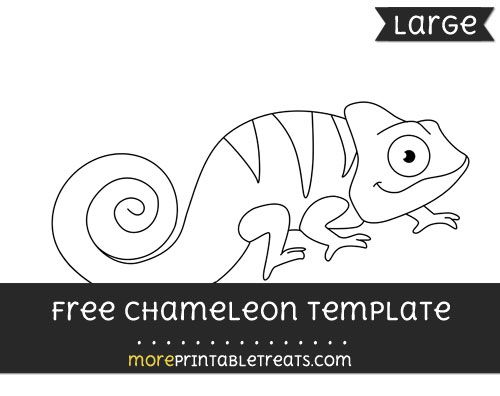 Free Chameleon Template Large Shapes And Templates Printables