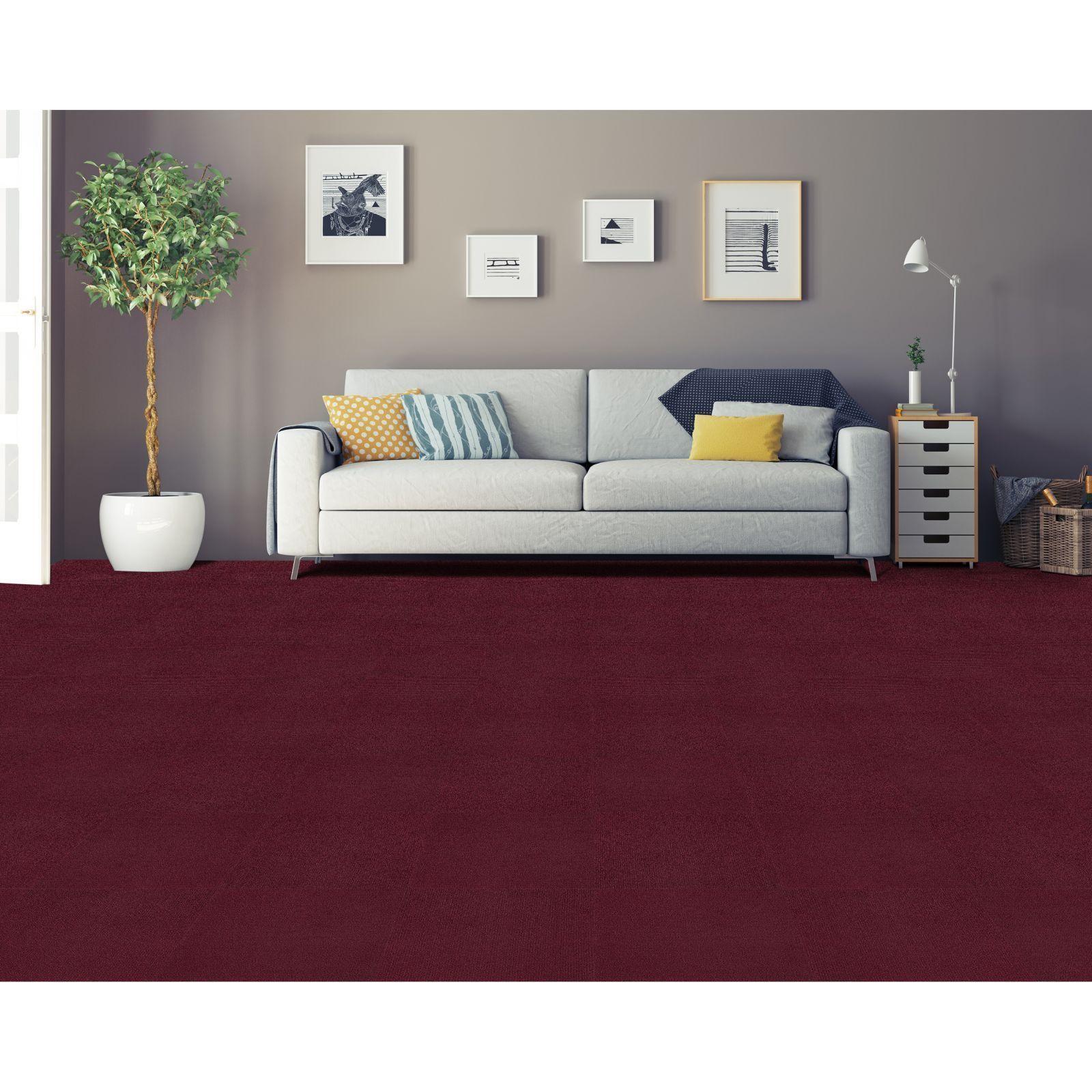 Best Achim Nexus Burgundy Self Adhesive Carpet Floor Tile 12 400 x 300
