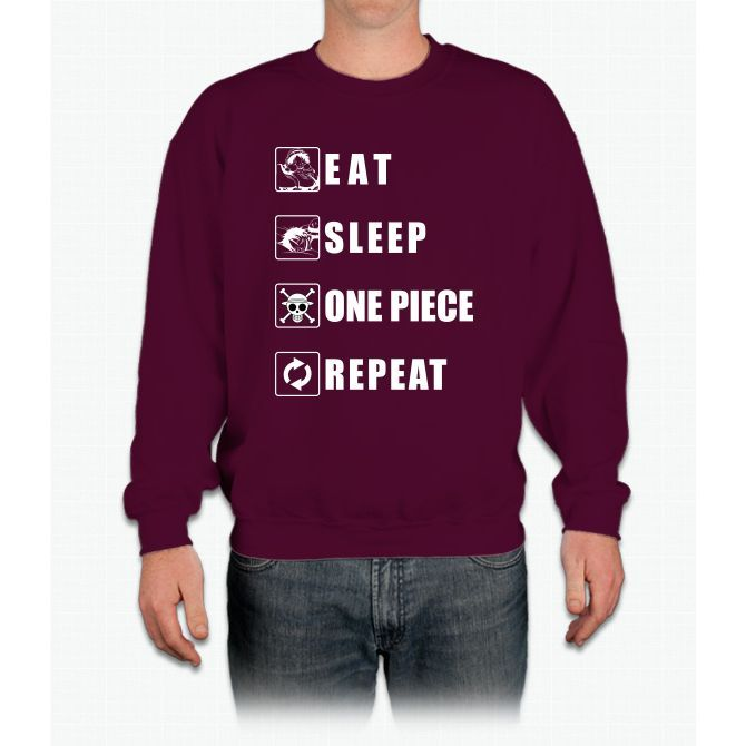 Eat Sleep One Piece Repeat Twenty One Crewneck Sweatshirt