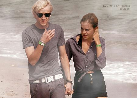 Tom Felton And Emma Watson Harry Potter Actors Draco Harry Potter Tom Felton Emma Watson