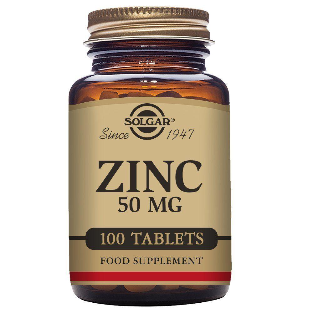 Solgar Zinc Tablets 50 Mg Pack Of 100 Amazon Co Uk Health