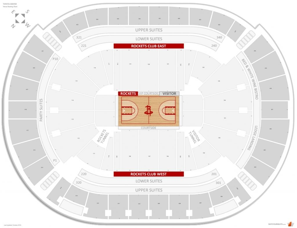 Amazing And Gorgeous Houston Toyota Center Seating Chart Di 2020