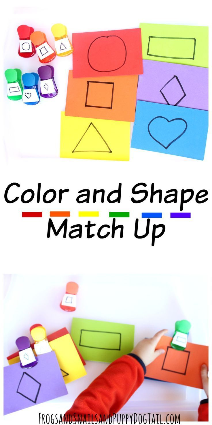 Colors preschool activities - Color And Shape Match Up Activity