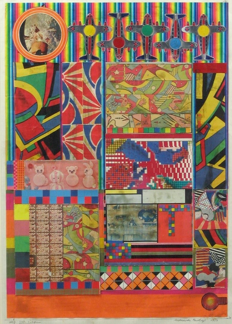 no 7 sun city collage study for universal electronic vacuum 1967 cut and pasted printed paper on graph paper 40 78 x 28 1038 x 711 cm