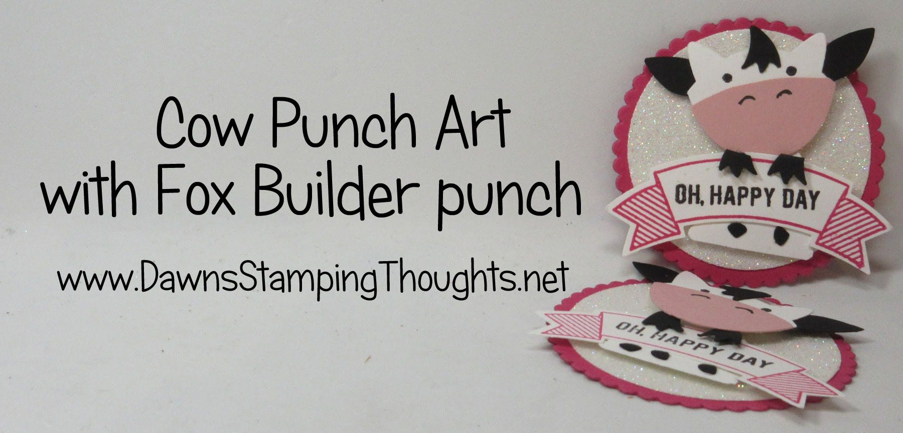 COW Punch Art with Fox Builder Punch from Stampin'Up! - YouTube