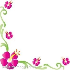 Spring Flowers Clip Art Borders Clip Art Of A Hibiscus Flower