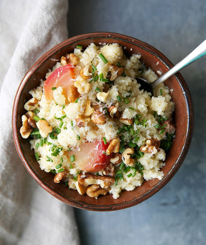 """Cauliflower Rice """"Risotto"""" With Beets"""