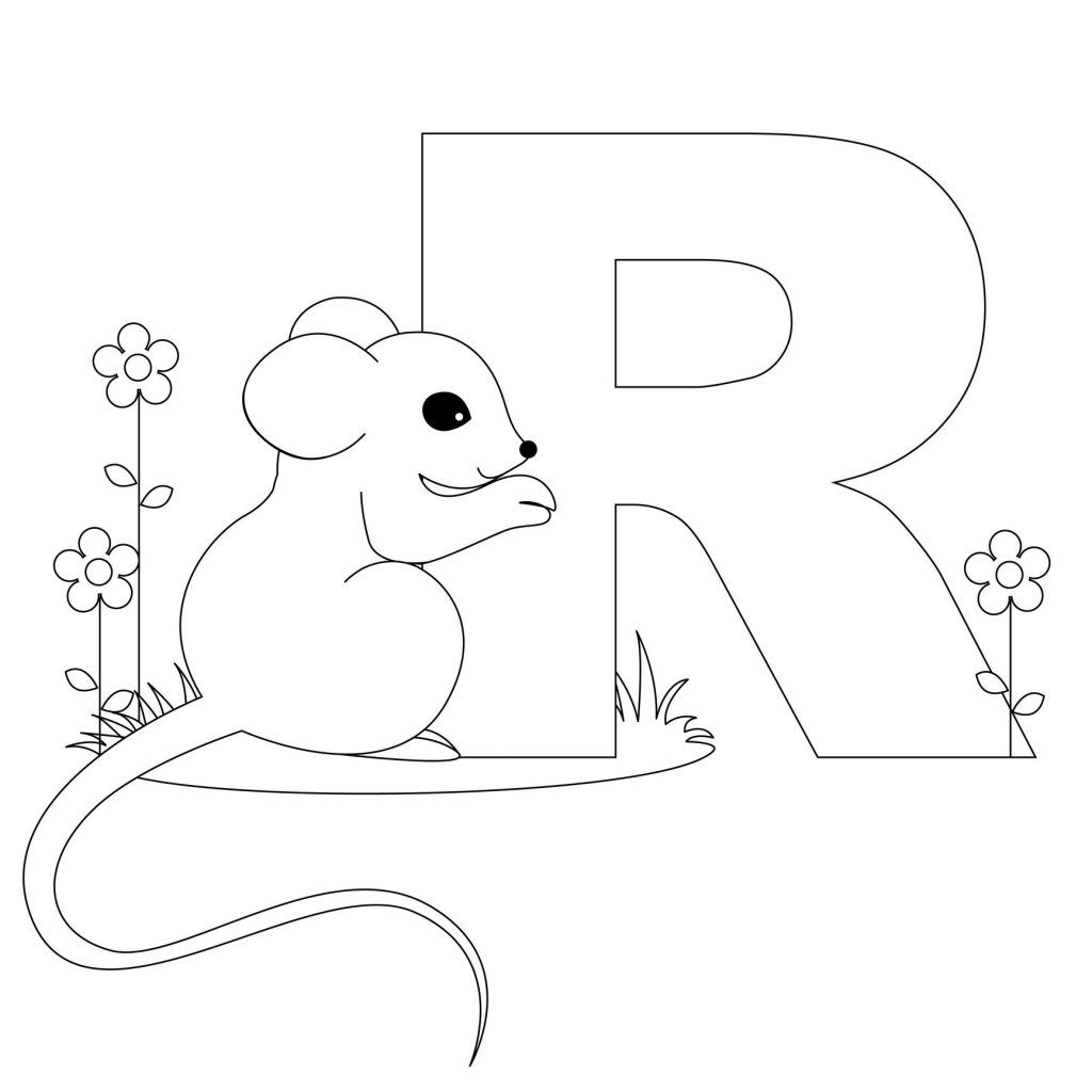 Printable Animal Alphabet Letters Coloring Pages Letter R Is For Ratfree Print P Out Rat Kids