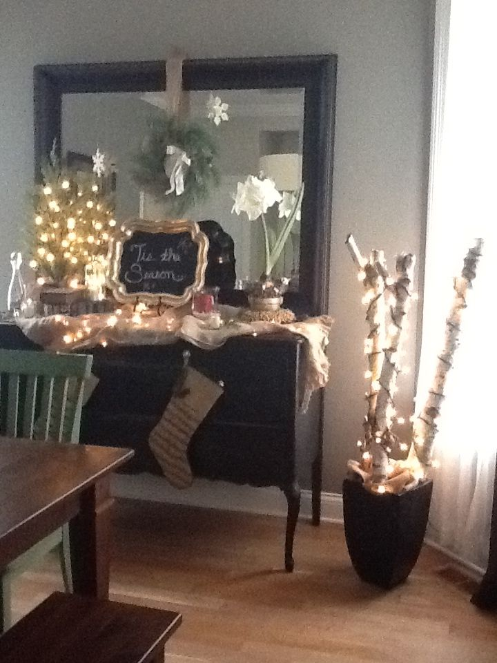 My sideboard decorated for Christmas. | Sideboard decor ...