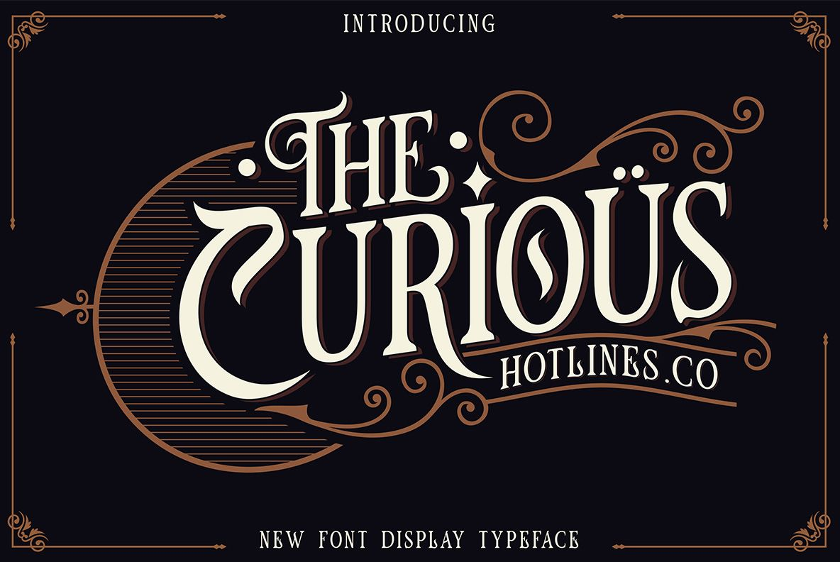 The Curious (378592) Logo Font Bundles Logo fonts