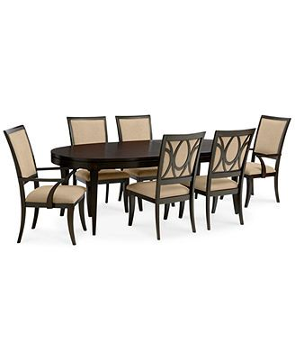 Quinton Dining Room Furniture 7 Piece Set Table 4 Side Chairs