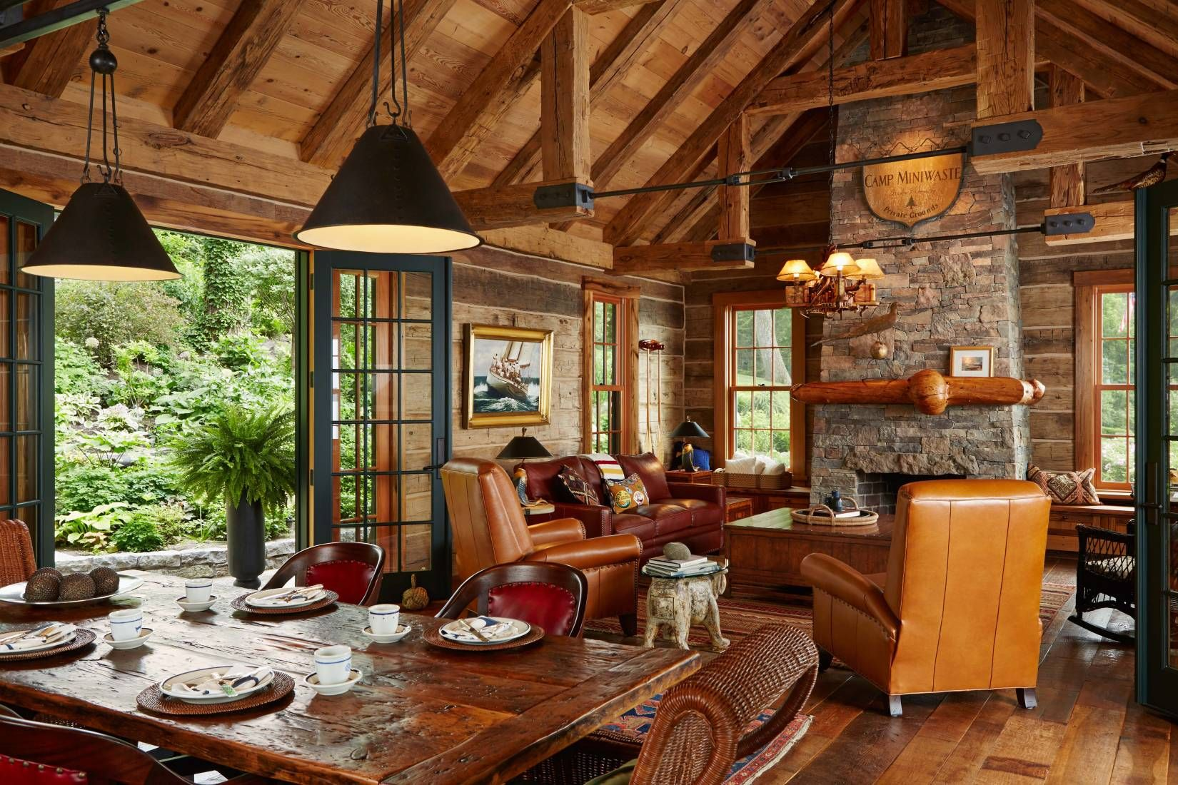 Small luxury cabin interior - This Old Boathouse Was Turned Into A Charming Cabin Overlooking The Lake
