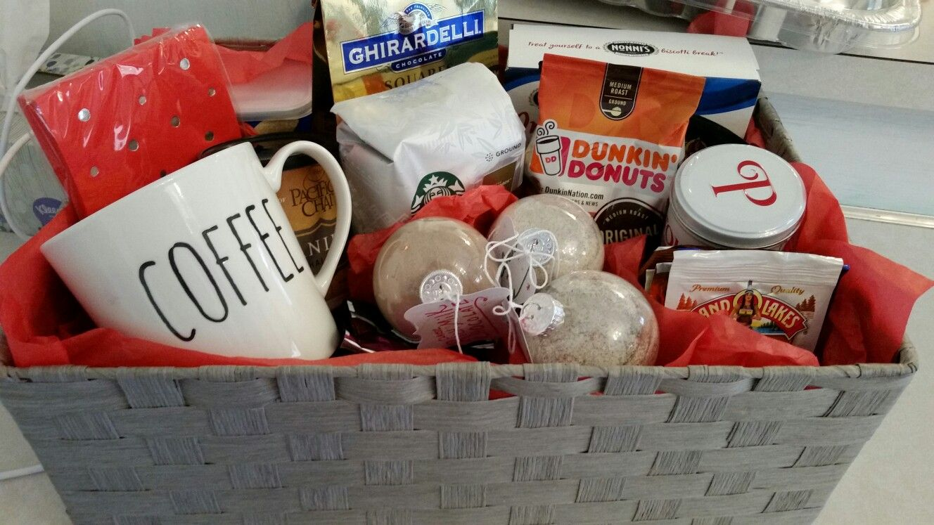 Coffee basket clear ornaments with your favorite mix in