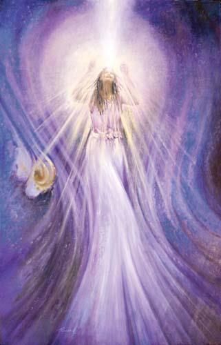 Draag het licht uit van de engelen opdat de mensen die in het ...
