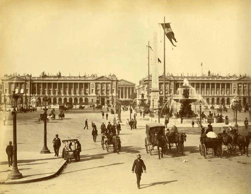 Place de la concorde -  19e siècle                                                                                                                                                     Plus