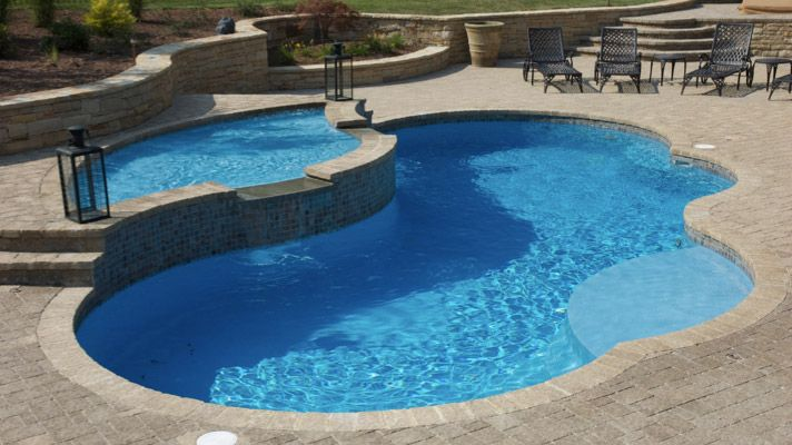 Fiberglass Pool Ideas fiberglass pools with tanning ledge pool backyardbackyard ideasoutdoor Small Inground Pool Designs Pool Manufacturer Has A Kidney Style Pool That