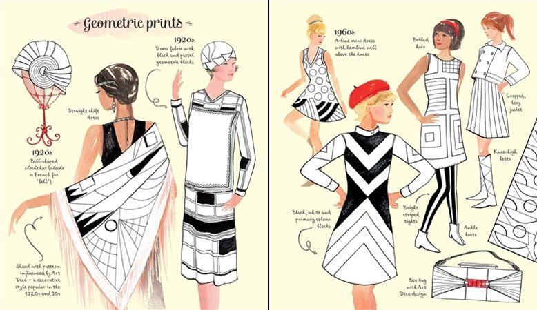 Vintage Fashion Colouring Book At Usborne Children S Books Fashion Coloring Book Vintage Fashion Colorful Fashion