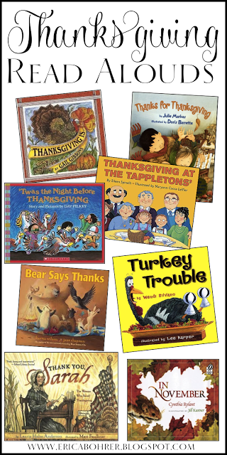 Thanksgiving Read Alouds For Primary Students November In