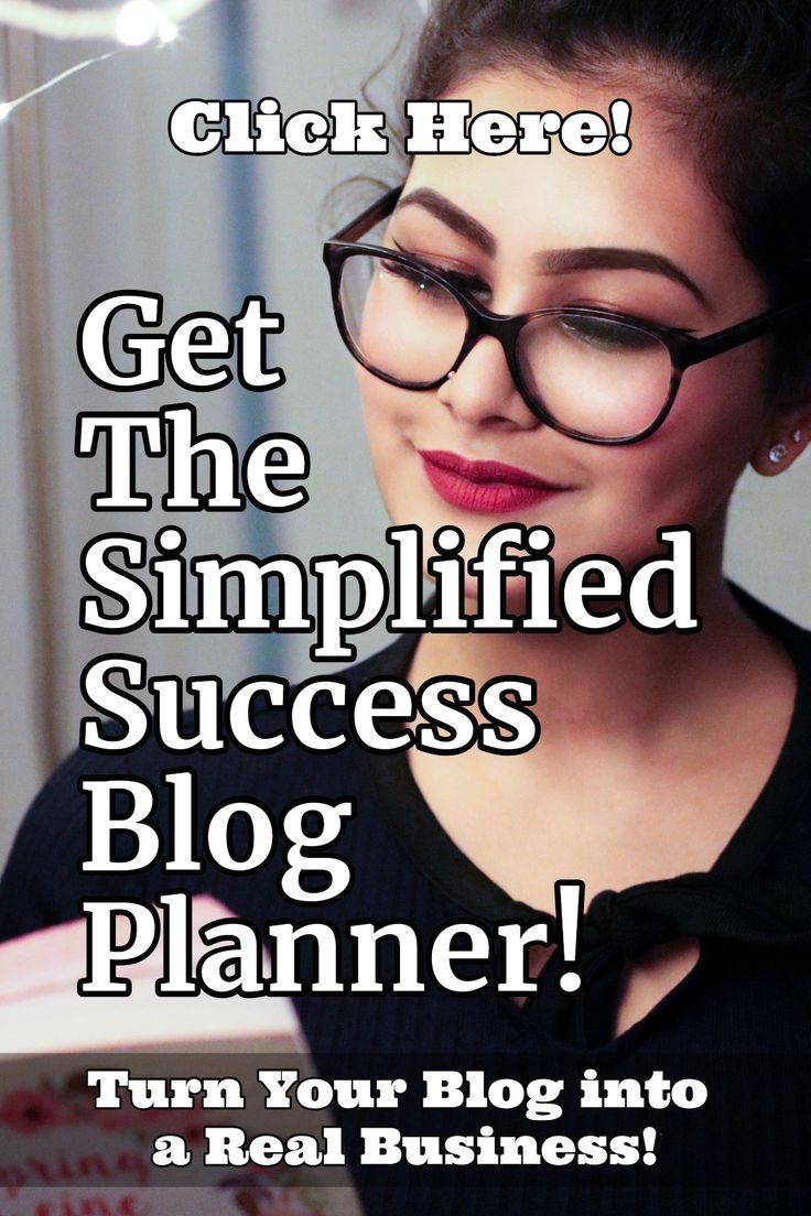The Simplified Success Blog Planner Main Turn Your Blog into  a Real Business! Get  The Simplified Success Blog Planner! Click Here!