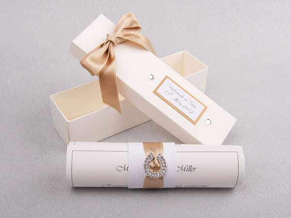beautiful scroll invitations for your wedding be different english wedding blog - Wedding Scroll Invitations