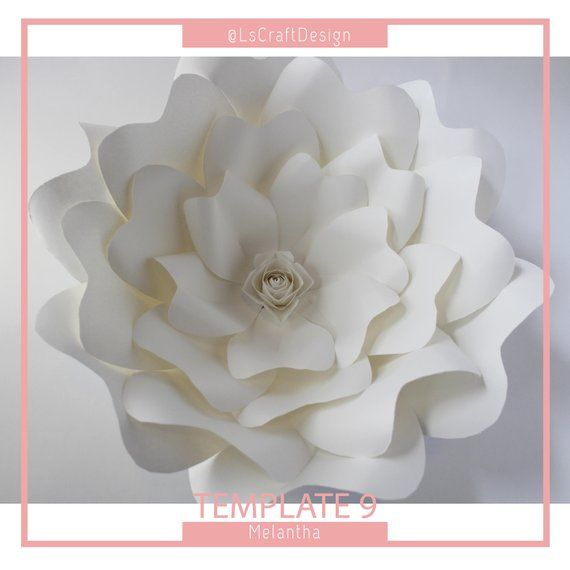 Paper Flower Template Giant Paper Flower Templates DIY Paper