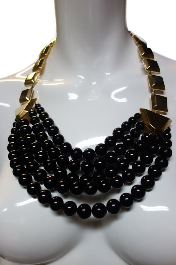 2e49998bba YSL Yves Saint Laurent Couture Dramatic Black by Vintageables | Yves ...
