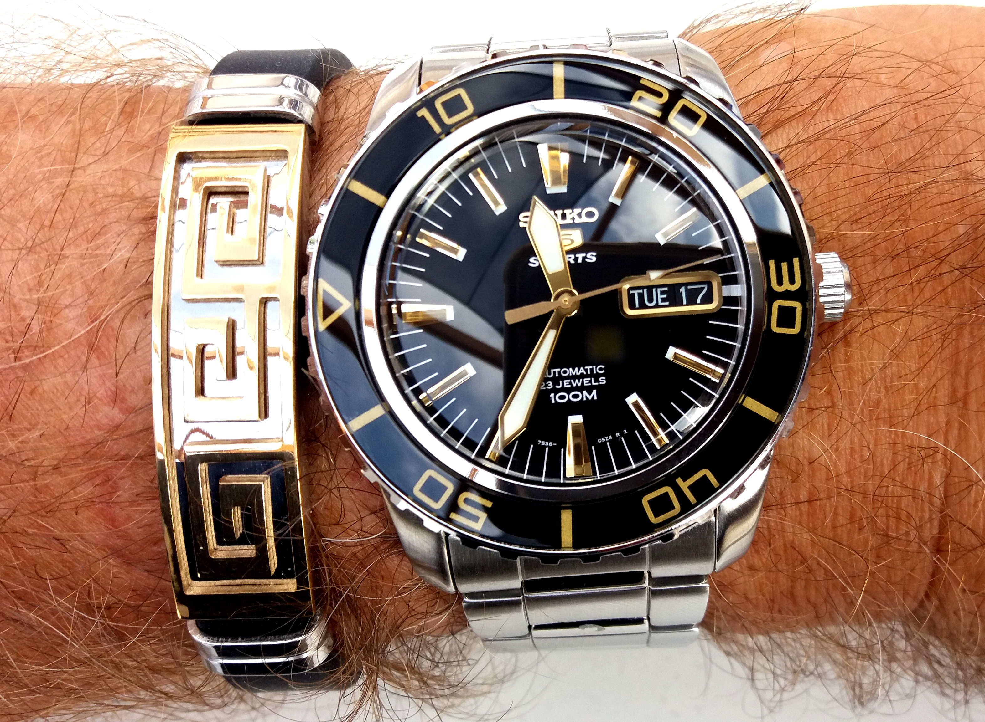 Seiko SNZH55 Fifty Five Fathoms Black Dial Automatic Mens Watch  Watches in 2019  Seiko