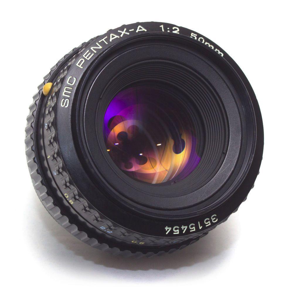 Pentax A 50mm F2 Smc Standard Lens K Ka Fit Manual Focus Film Digital Japan Vgc Pentax Vintage Lenses Manual Focus