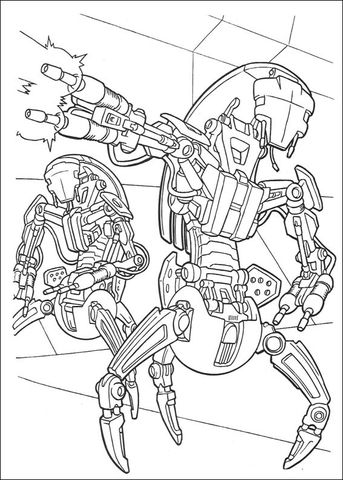 Droideka Coloring Page From The Phantom Menace Category Select