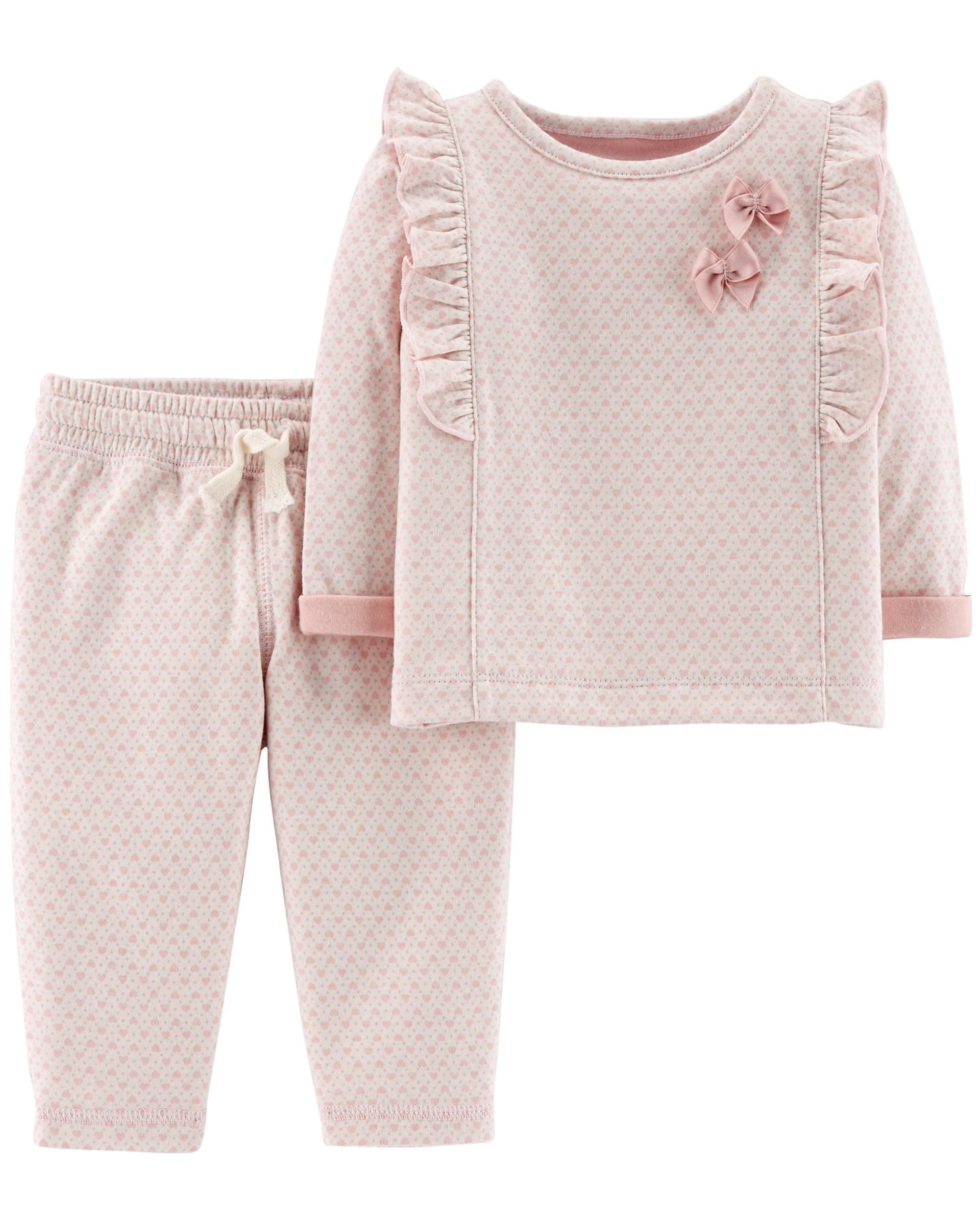 4-Piece Polka Dot Top & Pant Set  Baby girl clothes winter, Baby
