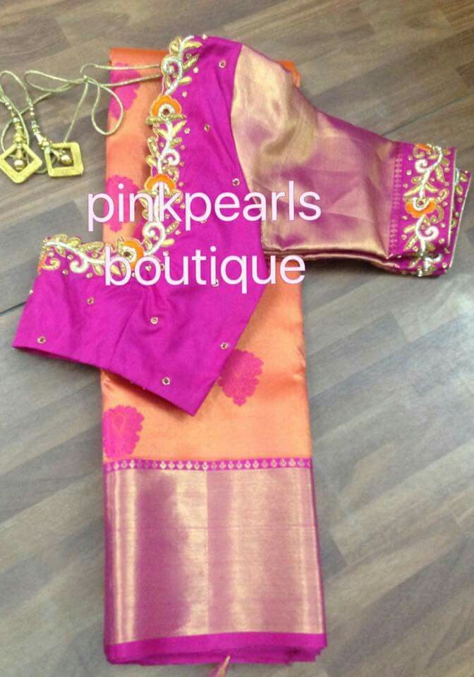 85bfc50505cf1d Pin by Lilysha Rani on heavy maggam work blouses