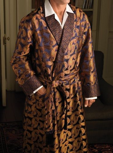 Vintage Mens Dressing Gown by Caulfeild Paisley Pattern Lounging ...