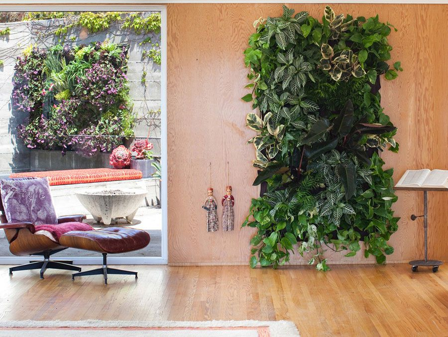Delightful Wooly Vertical Gardens... Pockets To Mount To Wall For Growing Gardens!  Methinks · Living Wall PlanterWall ...