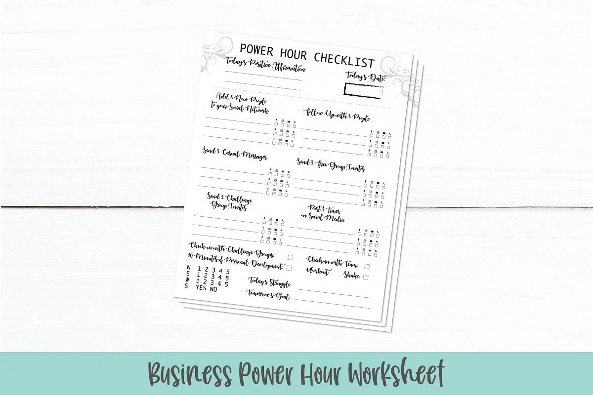 Business Power Hour Worksheet Daily Work Checklist Pdf Worksheets Free Free Printable Worksheets Power Hour