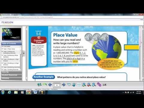 Envision Math 5th Grade Common Core Learning Place Value Topic 1 Lesson 1 Envision Math Math Core Learning