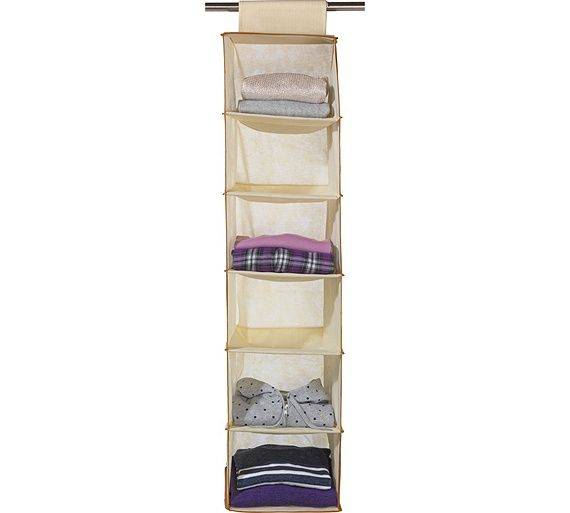 Buy HOME 6 Shelf Hanging Storage Unit with Edging - Cream at Argos.co.  sc 1 st  Pinterest & Buy HOME 6 Shelf Hanging Storage Unit with Edging - Cream at Argos ...