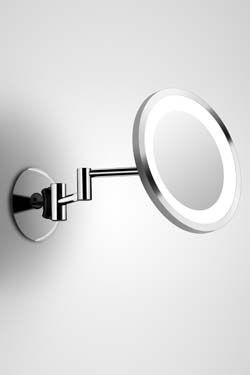 Shaver Led 3 Miroir Rond Mural Sur Bras Articule Par Bpe Licht Ref 11090085 Miroir Miroir Rond Miroirs En Verre
