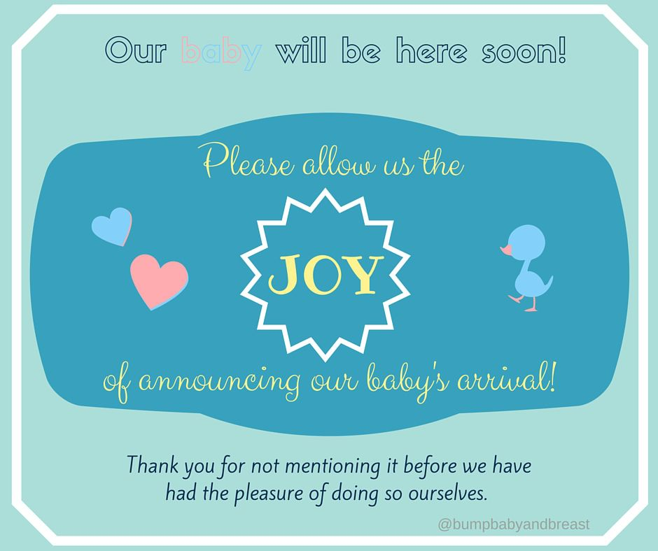Please Dont Announce Our Birth – Announcing a Birth