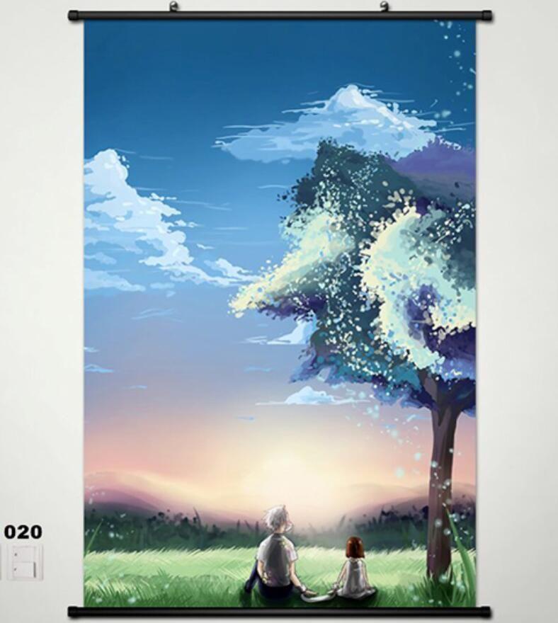 Hotarubi No Mori E The Light Of A Firefly Forest Home Decor Poster